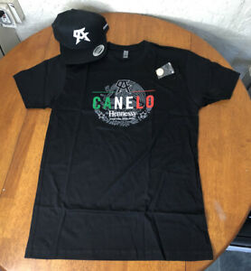 Canelo Alvarez Hennessy Hat Tee Pin SET L M T-Shirt BOXING Fooji