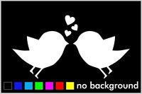Birds Heart Sticker Vinyl Decal Car Window Wall Decor Bird Love Cute Animal Pet