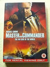 RUSSELL CROWE MASTER AND COMMANDER 2003 lleno de acción sea-faring Epic GB DVD