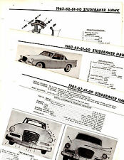 1960 1961 1962 1963 STUDEBAKER HAWK MOTOR'S ORIGINAL CRASH BOOK ILLUSTRATIONS M4