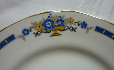 Grindley Dinner Service Set Vintage Blue & Yellow on Cream serves 6 Very Pretty!