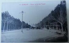 Tarjeta Postal. Albacete. Nº 17. Paseo Central del Parque. Animada.