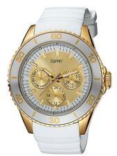 ESPRIT ES103622008 Damen Kautschuk Weiß Armbanduhr Datumsanzeige Analog Neu