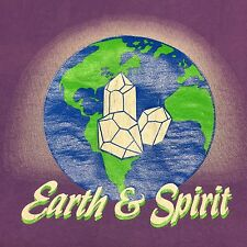 Vintage Earth & Spirit T-shirt Xl Crystal Hippy Spiritual Witchcraft Fairy Stone