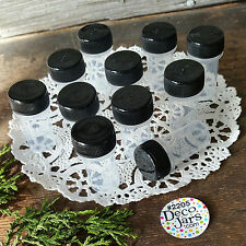 12 Tiny Tubes Vial Black CAP lid  Container Mining Powder Herbs Geocache 2205