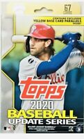 2020 TOPPS Baseball UPDATE SERIES Walgreens Hanger Box Yellow Parallels NEW