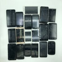 Lot Of 19 Broken Smart Phones For Replacement Parts LG Huawei Samsung Maze