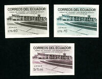 Ecuador Stamps # C416-18 Rare Imperforate Set of 3