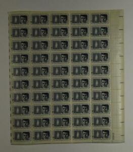 US SCOTT 1246 PANE OF 50 JOHN F KENNEDY LIGHT THE WORLD STAMPS 5 CENT FACE MNH