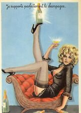 Ak CARRIERE Pin-up girl Humor Strümpfe stockings Straps Blonde nude nu Sekt Po