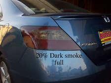 Civic Coupe Full Dark Smoke Tail Light Tint Pre-cut vinyl Overlays Mugen Si EX