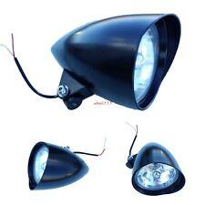 6'' Black Bullet Headlight For Harley Custom Chopper Softail Sportster Bobber