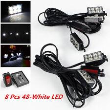 8Pcs 48-White LED Lighting System Light Kit Pick-Up Truck Bed Area Rear Work Box