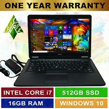 "DELL GAMING LAPTOP Windows 10 16GB RAM Intel® Core™ i7 512GB SSD HDMI 14"" FULLHD"