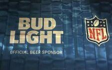 NEW Bud Light Official Beer Sponsor NFL Football Flag Banner Red White Blue 3x5