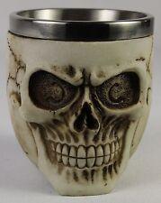 Human Skull Cup Halloween SS Goblet Tankard Mug Skeleton Gothic Horror Biker New
