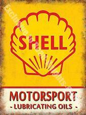 Vintage Garage Motor Racing Oil Petrol Old Advertising Small Metal Tin Sign