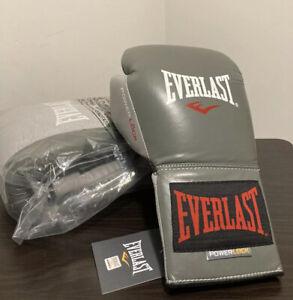Everlast P00000569 Powerlock Training Gloves Laced Grey / Red 14Oz