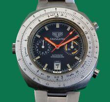 Vintage 1960's  HEUER Chronograph  CALCULATOR Large Watch Caliber 11