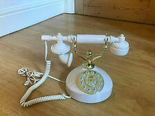 BINATONE Ivory White & Gold CLASSIC 2 Piece TELEPHONE Vintage Style Model 5502