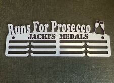 Personalised Thick Acrylic 3Tier 5mm RUNS FOR PROSECCO  Medal Hanger
