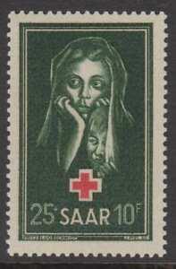 SAAR 1951 RED CROSS FUND MNH, SG 301, EXCELLENT
