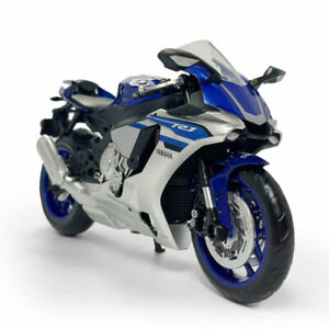 1:12 Scale Yamaha YZF-R1 Motorcycle Model Diecast Sport Bike Toy Kids Gift Blue