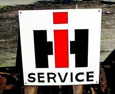 Vintage IH INTERNATIONAL HARVESTER Service SIGN Truck Tractor Farm Man Cave ART