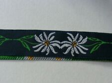 18MM  FLORAL EMBROIDERED BRAID/RIBBON /TRIMMING MADE IN THE UK