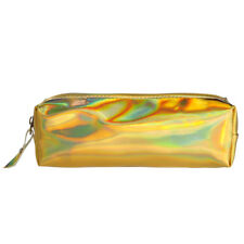 Laser Purse Pencil Case Cosmetics Makeup Bag Holographic Hologram Metallic Color Gold