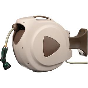RL Flo-Master Retractable Garden Hose & Reel with Auto Rewind 65 Foot Water Tool