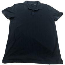Boss Hugo Boss Solid Black Short Sleeve Polo Shirt Size Medium-Small