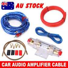 1500W Car Audio Subwoofer Sub Amplifier AMP RCA Wiring Kit FUSE AGU Power Cable