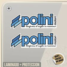PEGATINA POLINI ALTO RENDIMIENTO DECAL VINILO VINYL STICKER DECAL ADESIVI