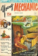Vintage Young Mechanic Spring 1953 Paperback Book ~ 1952 Soap Box Derby Winner