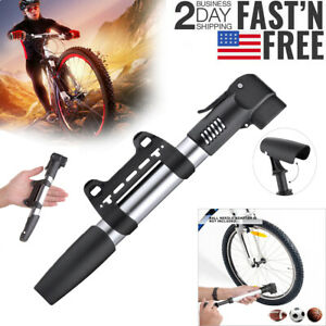 yifengdz Foot Bike Pump,Mini Aluminum Alloy Floor Bicycle Air Pump Fits Presta and Schrader