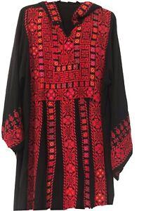 Women's Egyptian Bedouin Colorful Embroidered Abaya Kafatan Handmade Siwa Egypt!