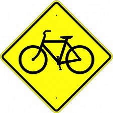 """BICYCLE CROSSING SIGN  30"""" x 30"""" Aluminum, Engineer Grade Reflective...LEGAL"""