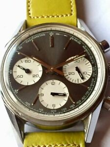HEUER-CARRERA, REFERENCE 2447 important SCHOOLWATCH CHRONOGRAPH Prototyp
