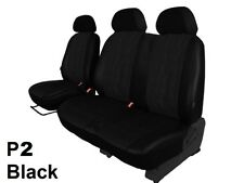 RENAULT TRAFIC 2001-2014 2+1 ECO LEATHER SEAT COVERS EMBOSSED MADE TO MEASURE