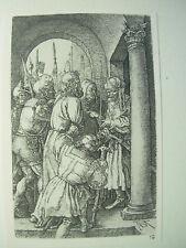 Albrecht DURER VINTAGE INCISIONE SU RAME PRIMA DI CRISTO Pilato PASSIONE-N. 5