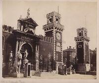 Venezia Arsenale Lions Greci Pireo Delos Italia Foto Vintage Albumina c1865