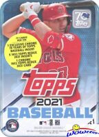 2021 Topps Series 1 Baseball RANDOM Factory Sealed Collectors Tin-75 Cards NEW!