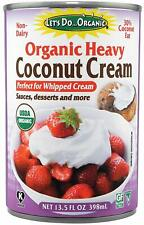 Lets Do Organic Heavy Coconut Cream For Whipped Cream, Desserts, 13.5 Ounce