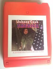 Johnny Cash America a 200 Year Salute Story Song 8 Track Tape - Guaranteed