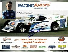 AJ Allmendinger Signed NASCAR Racing Awareness 8x10 Promo Photo #2