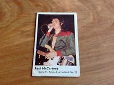 1970's HOLLAND DUTCH MINI GUM CARD SERIES P # 12 PAUL McCARTNEY VG SET BREAK