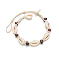 Seashell Sandal Anklet Beach Jewelry Women Vintage Rope Ankle Bracelet Natural