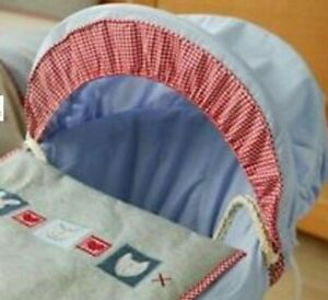NEW boy's 3 Piece Lollipop Lane  Hug & Kisses Moses Basket Dressing Bedding set.