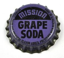 VINTAGE MISSION Grape Soda BIER TAPA DE BOTELLA EE.UU. Gorra SELLO CORCHO